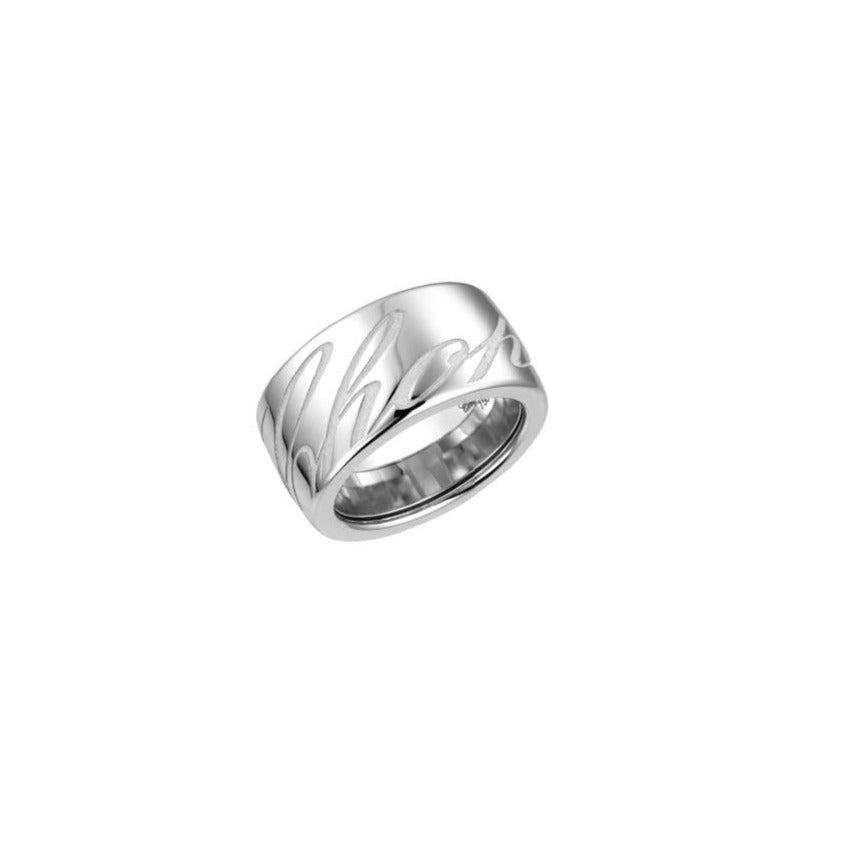CHOPARDISSIMO 18K WHITE GOLD BAND