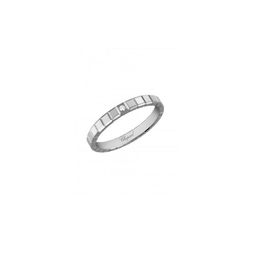 ICE CUBE RING 18K WHITE GOLD