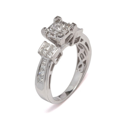 Diamond Ring 14k White Gold (1 ct. tw.)