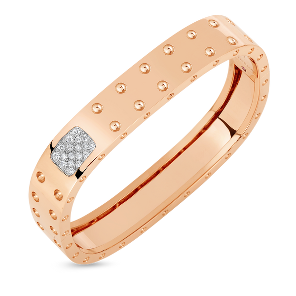 2 ROW SQUARE BANGLE WITH DIAMONDS