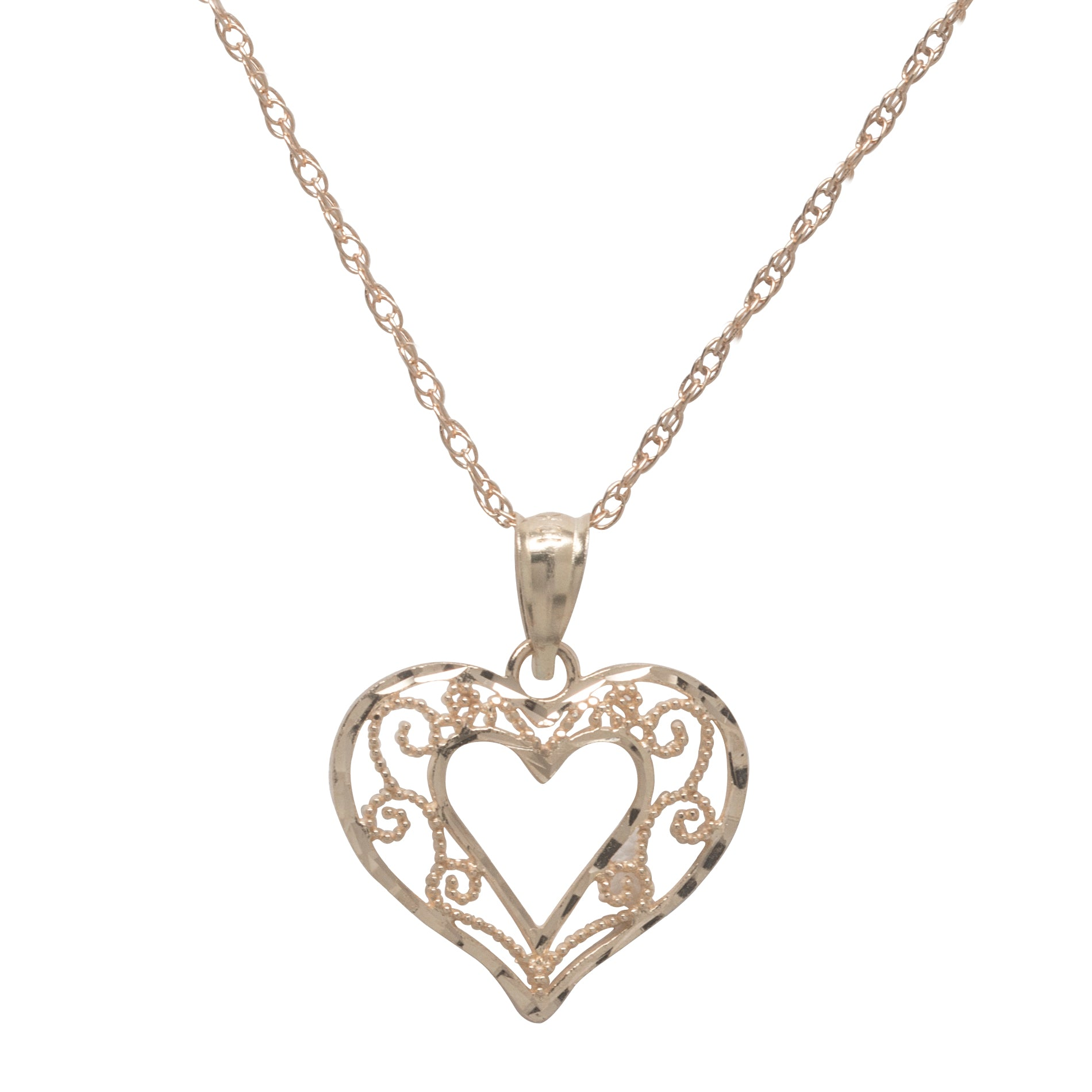 10k yellow gold filigree heart pendant little switzerland 10k yellow gold filigree heart pendant aloadofball Image collections
