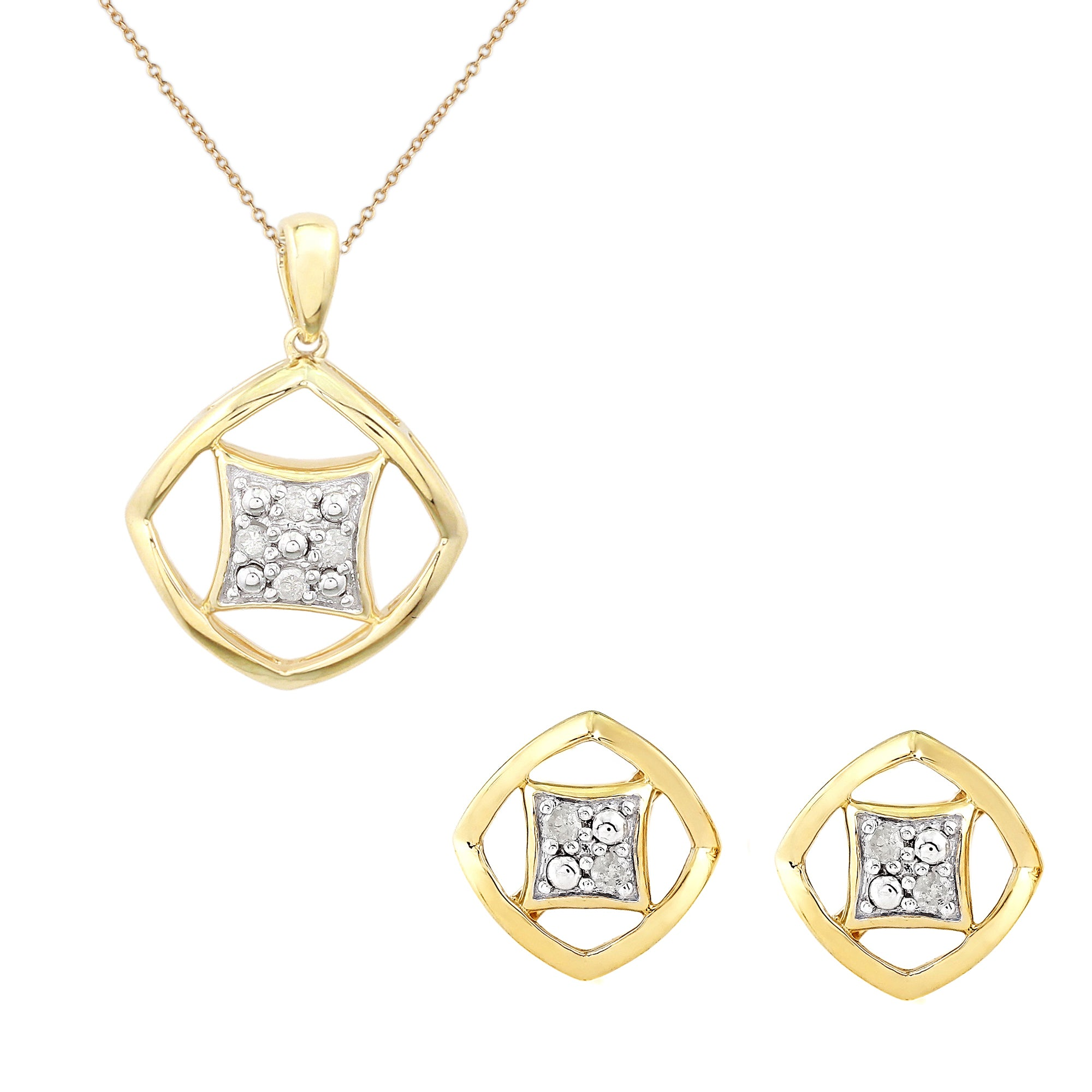 pendant the cameo diamond shop gold square galleria