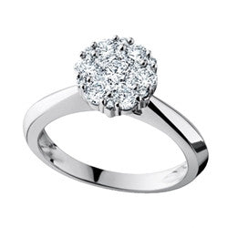 Diamond Cluster Ring 14k White Gold (0.75 ct. tw.)