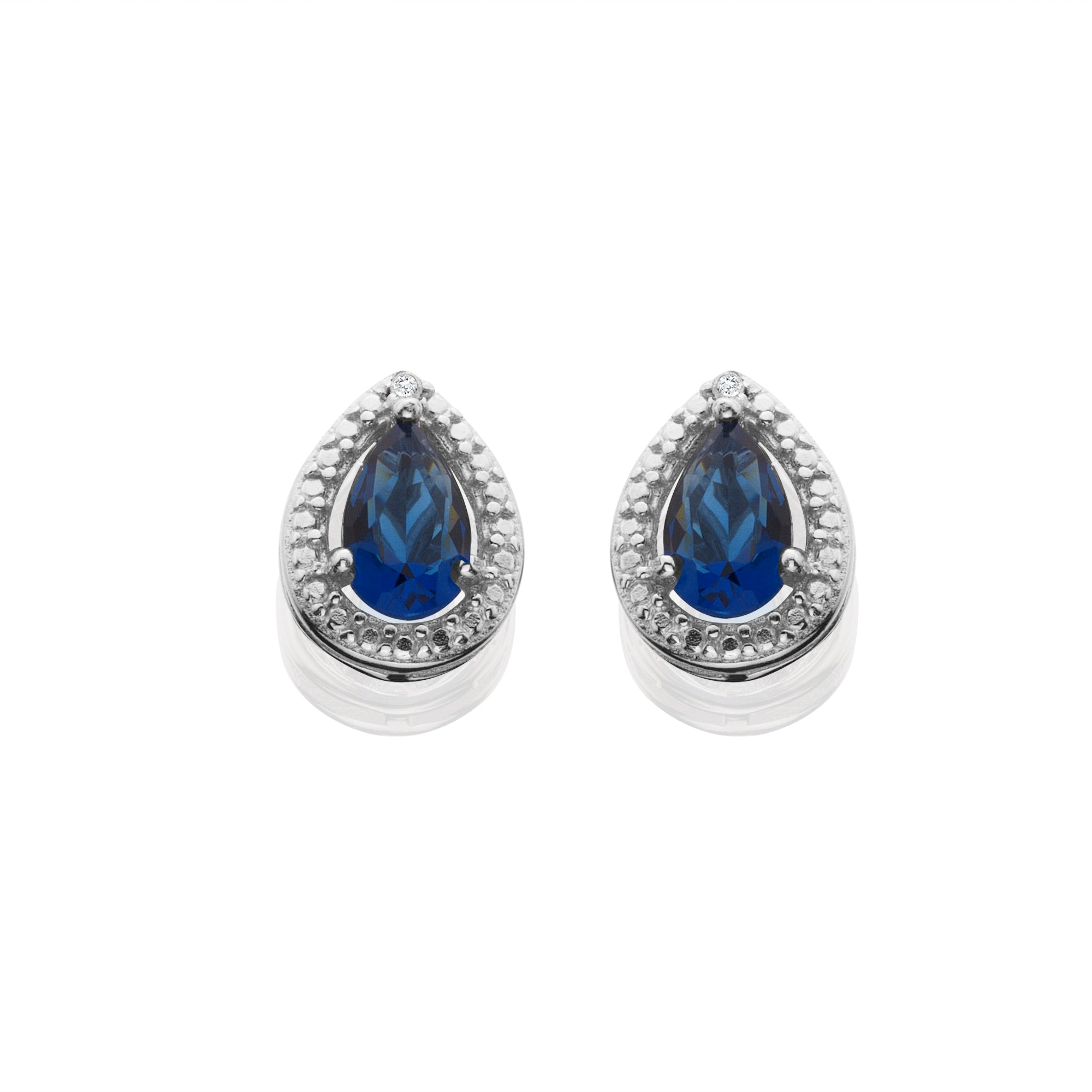 little diamond and accent switzerland products sapphire earrings created