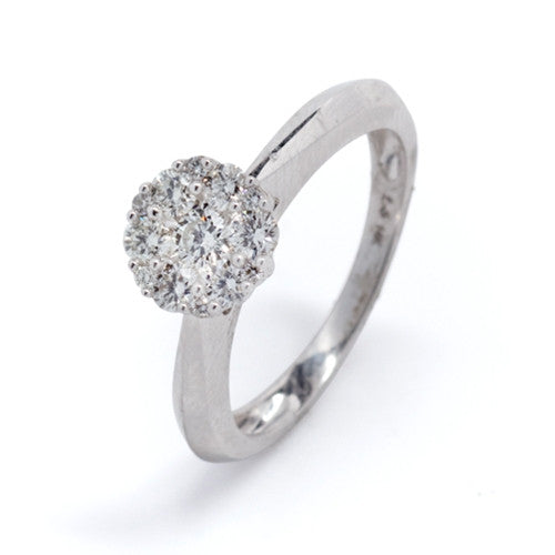 Diamond Cluster Ring 14k White Gold (0.50 ct. tw.)