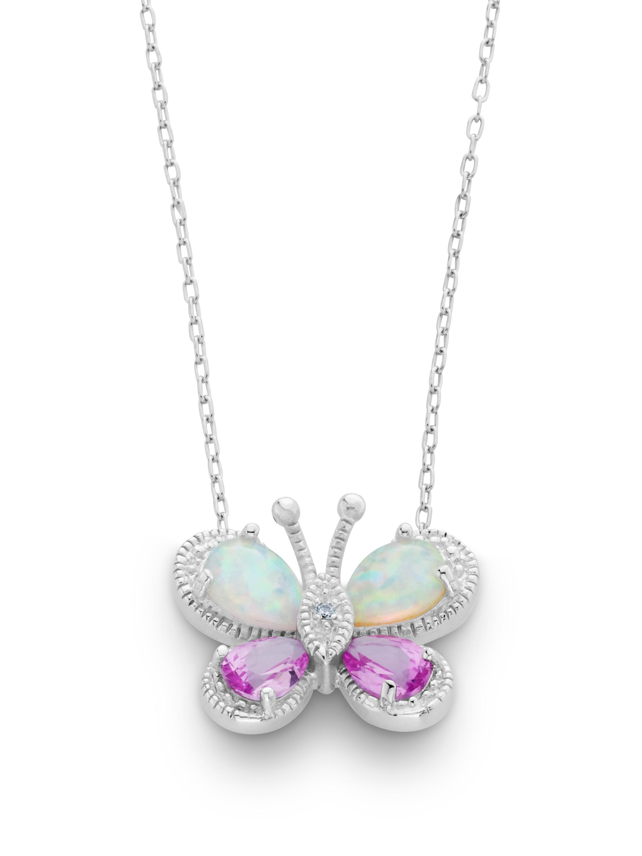 created products opal pendant sapphire butterfly little pink and necklace