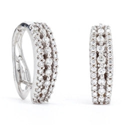 Diamond Hoop Earrings 14k White Gold (0.50 ct. tw.)