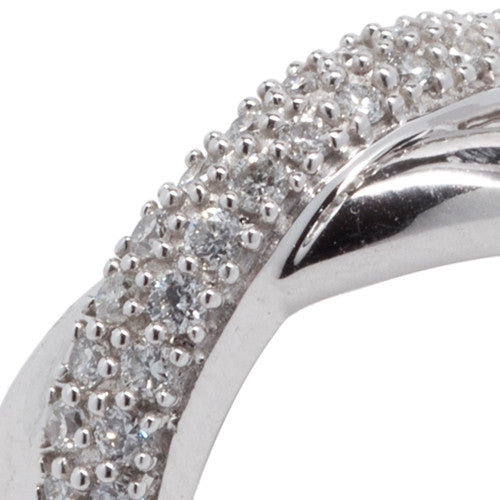 Diamond Crossover Ring 14k White Gold (0.50 ct. tw.)