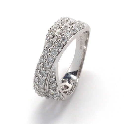 Crossover Diamond Band 14k White Gold (1 ct. tw.)
