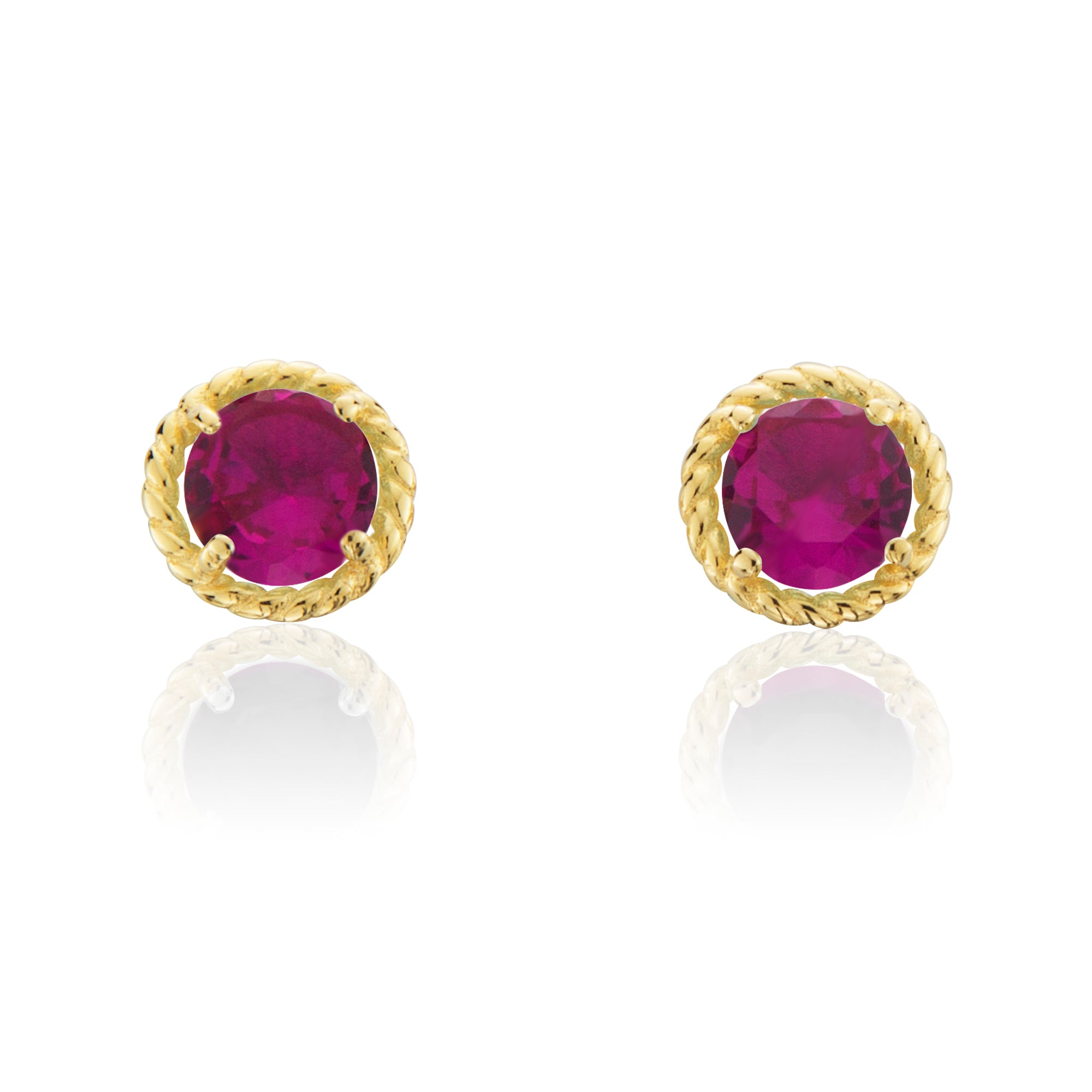 operandi red large by gold ruby moda lewis jewellery earrings renee loading
