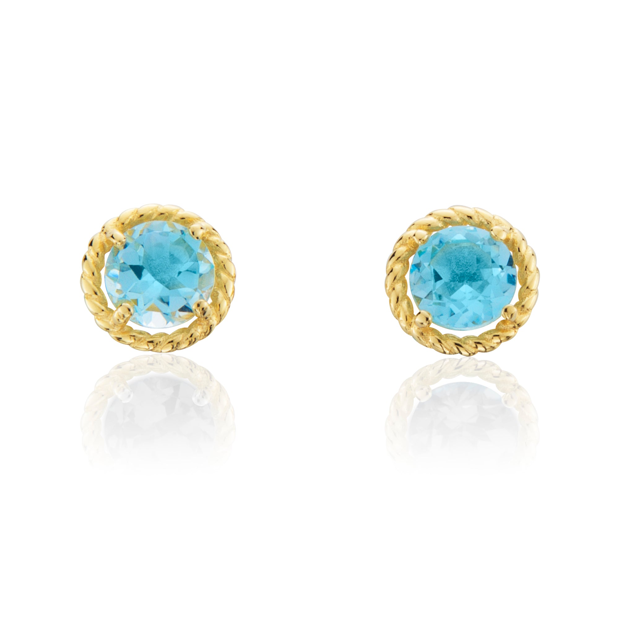jewelers friedman petite oratorio earrings round studs blue product s topaz
