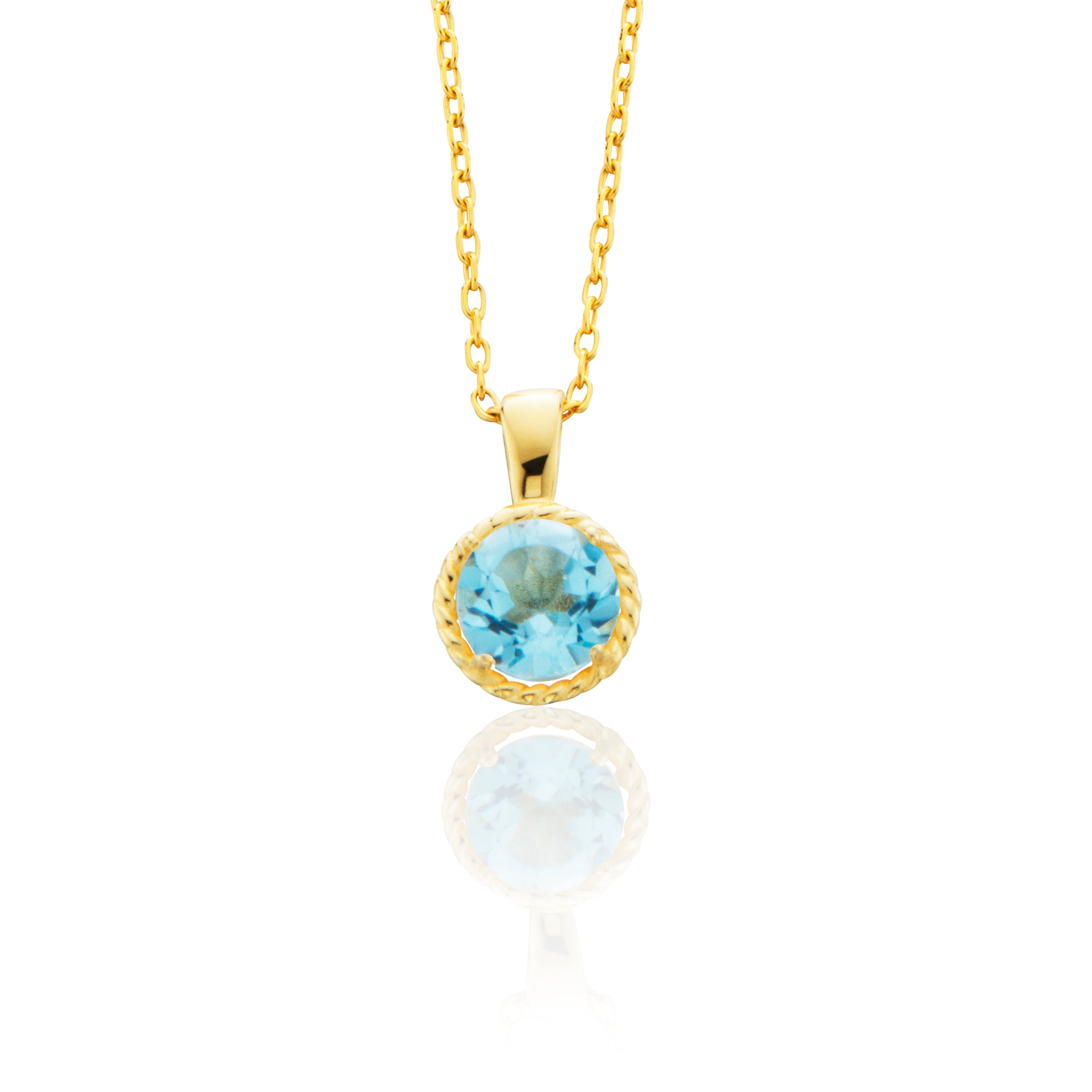 topaz melbourne contemporary product crystal gertrude st jewellery handmade cluster pendant fitzroy blue and img