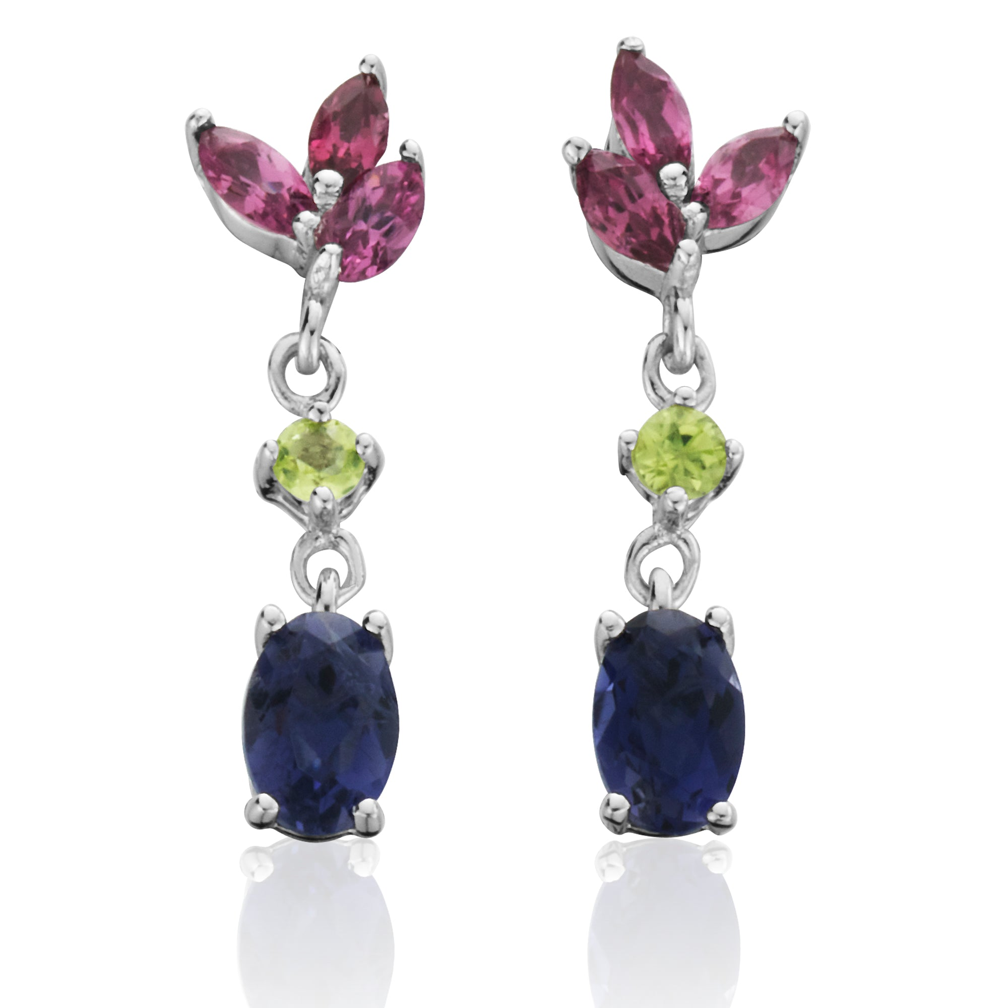 sapphire diamond oscar color heyman earrings multi platinum shop