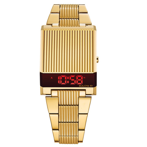 Stainless Steel Gold Watch Bulova Computron