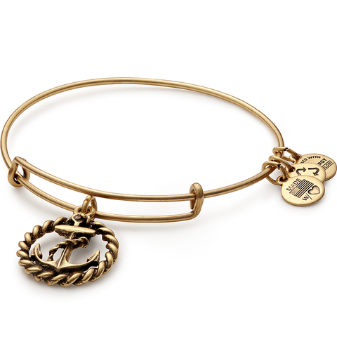 Nautical Anchor Charm Bangle