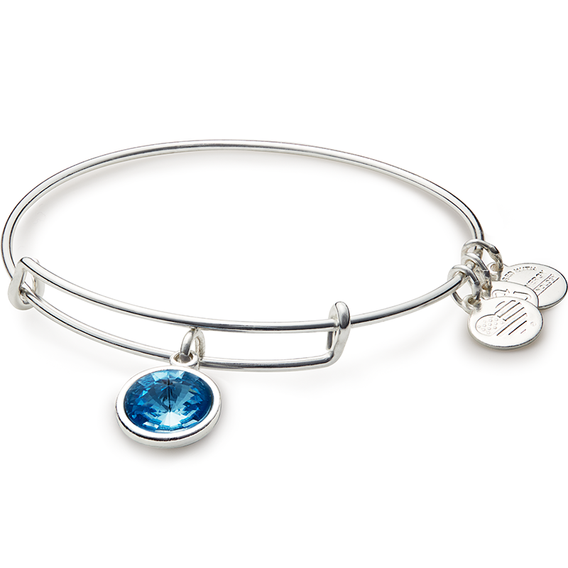 March Birth Month Charm Bangle