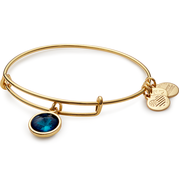 May Birth Month Charm Bangle