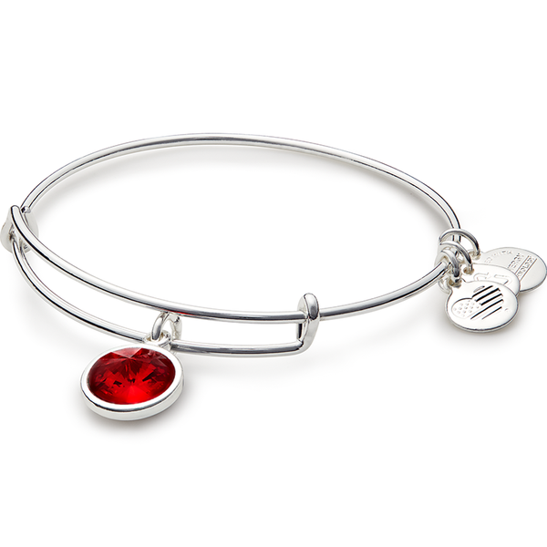 July Birth Month Charm Bangle
