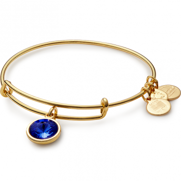 September Birth Month Charm Bangle