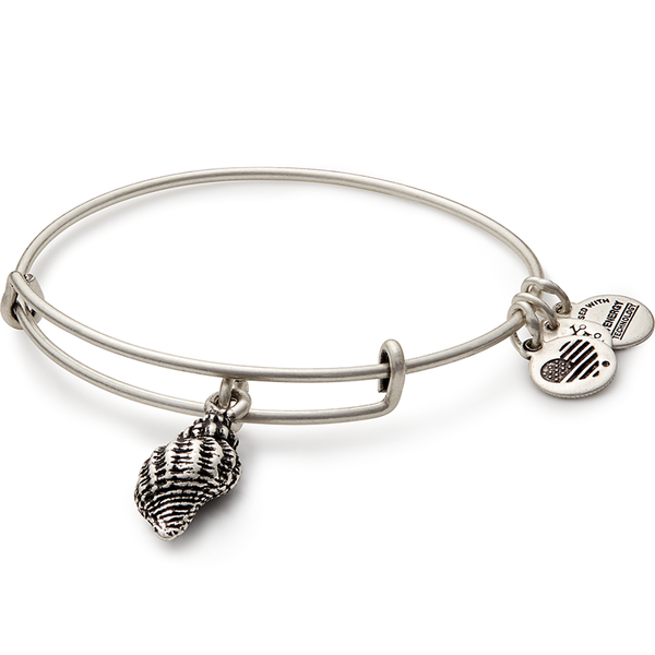 Conch Shell Charm Bangle