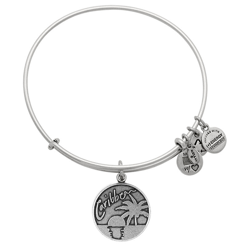 kids adjustable bangles flower heart pebbles jones bangle personalized main charm p
