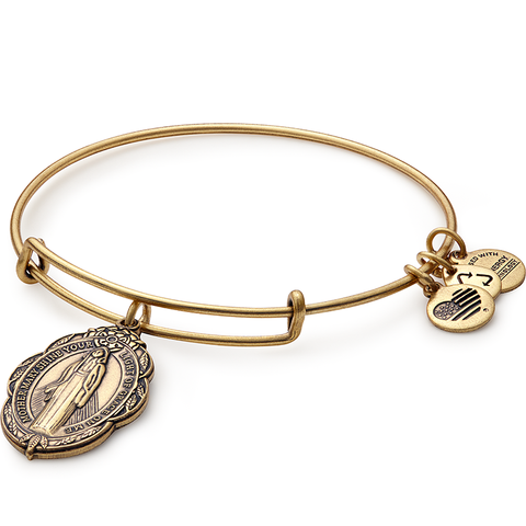 Mother Mary Charm Bangle