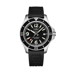 Steel black breitling superocean automatic watch