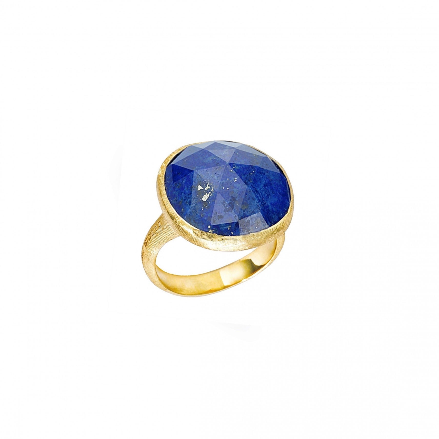 18K Yellow Gold & Blue Lapis Ring