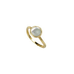 18K Yellow Gold & Mother Of Pearl Stackable Ring