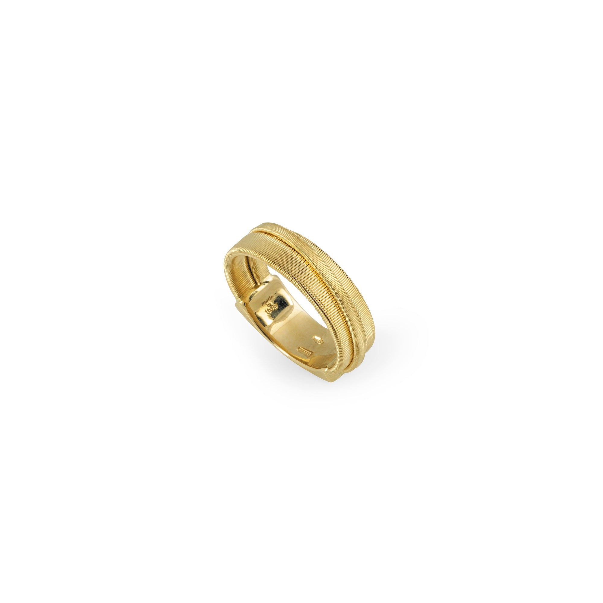 18K Yellow Gold Three Strand Crossover Ring