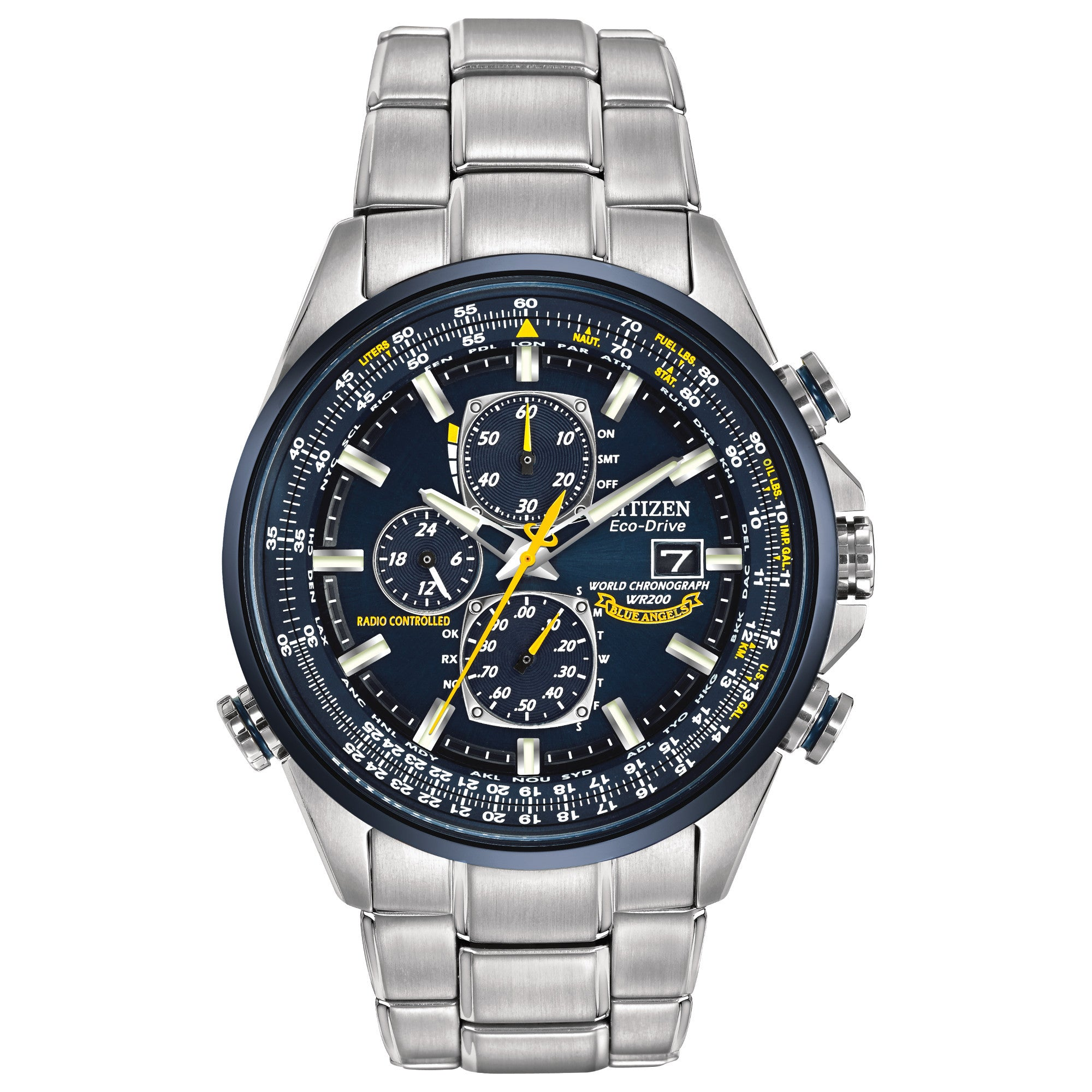 CITIZEN BLUE ANGEL WORLD CHRONOGRAPH A-T AT802054L