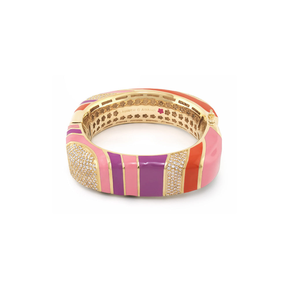 Stripes of Pave Bangle