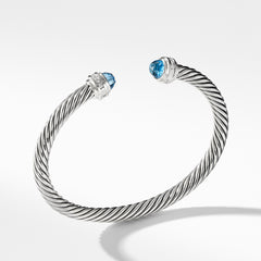 Bracelet with Blue Topaz and Diamonds
