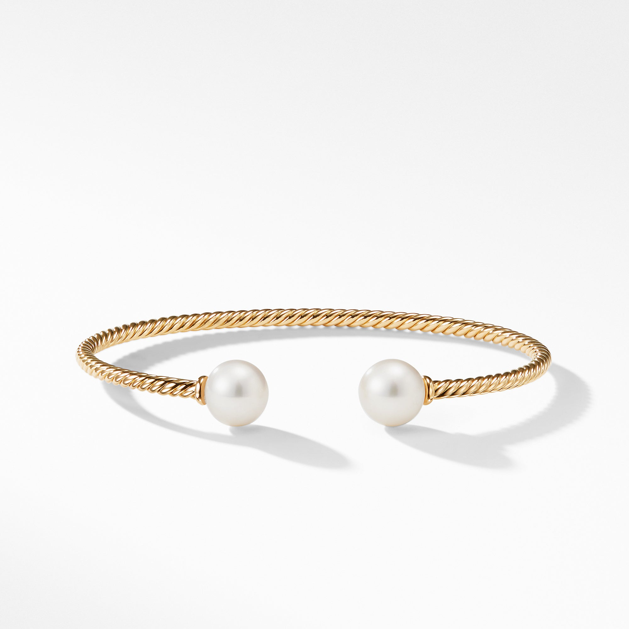 Bead Bracelet with Pearl in 18K Gold
