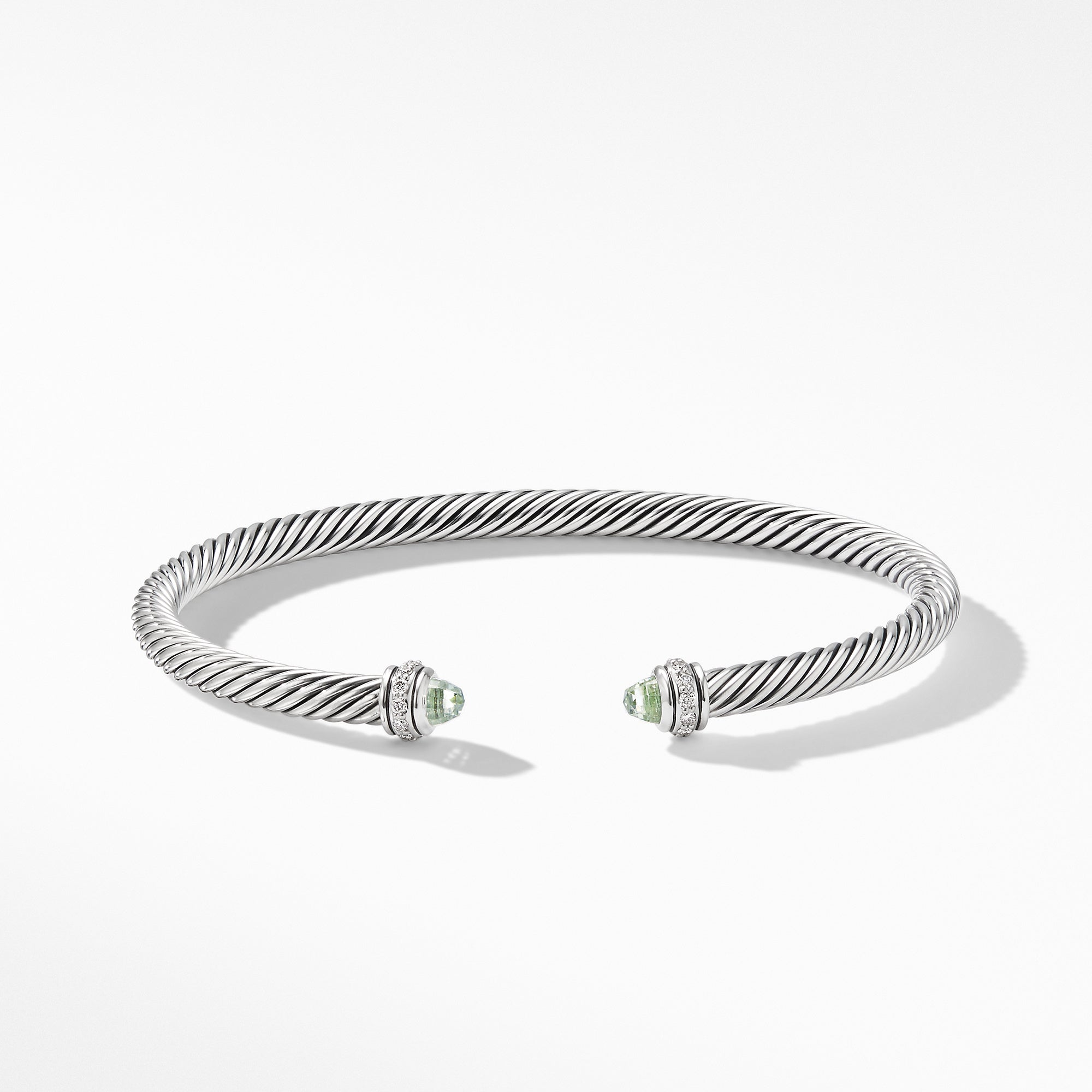 Cable Classic Bracelet with Prasiolite and Diamonds