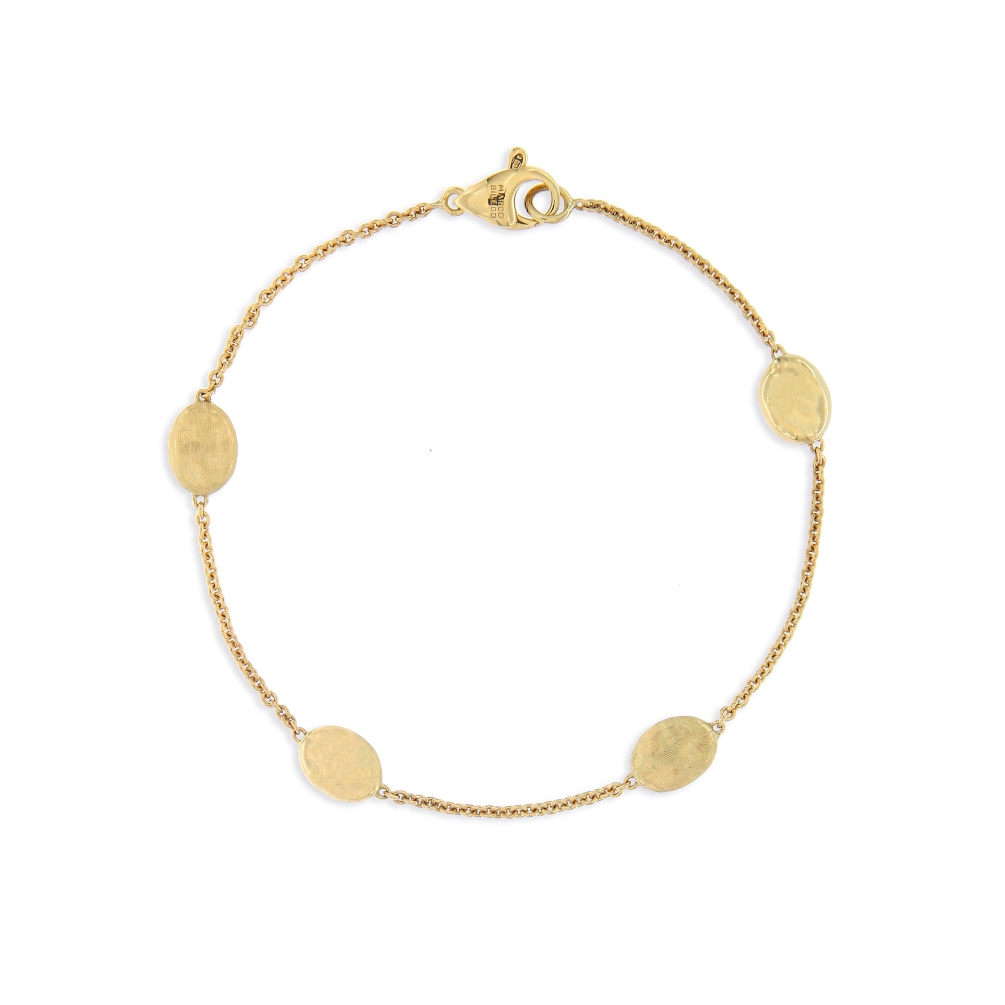 18K Yellow Gold Bead Bracelet