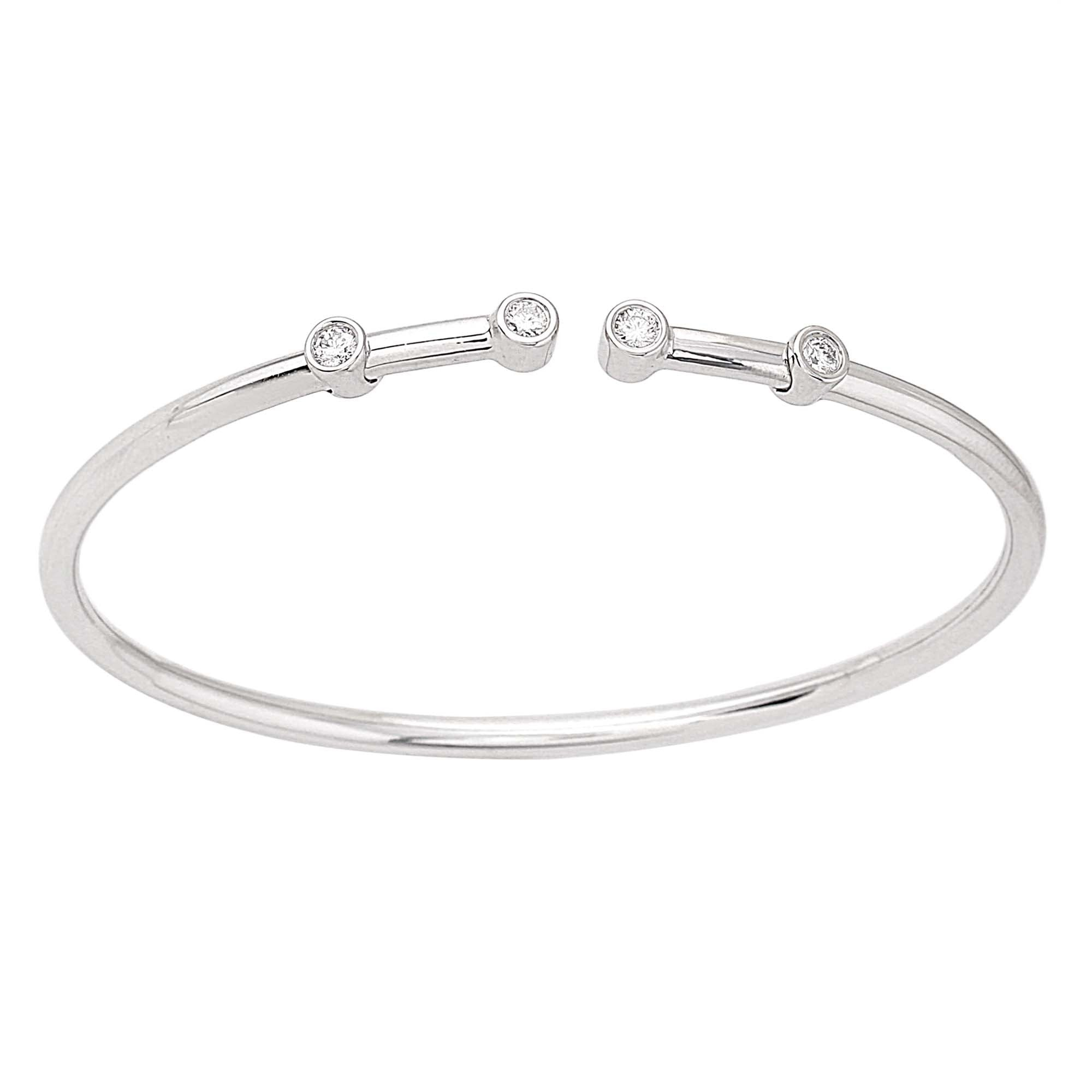 bangle bar silver bracelet collection bangles beaded london diamond sterling