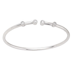 Flexible Diamond Bangle Bracelet 4 Stone