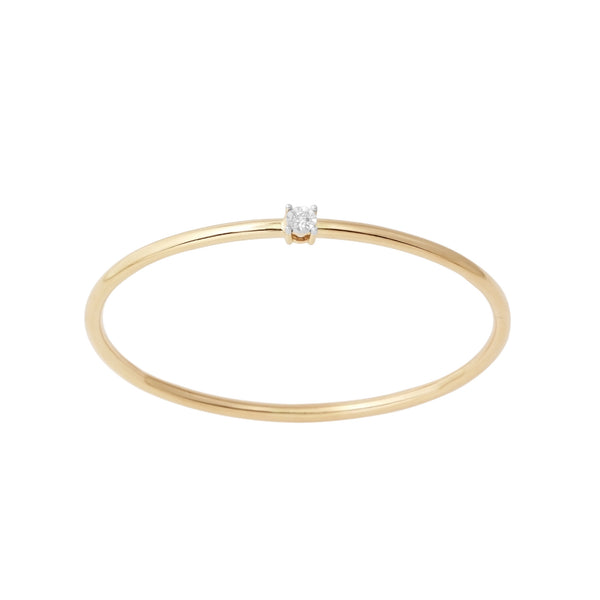 Flexible Diamond Bangle Bracelet 1 Stone