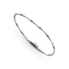 18K White Gold Stackable Bangle