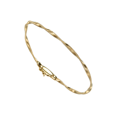 18K Yellow Gold Stackable Bangle