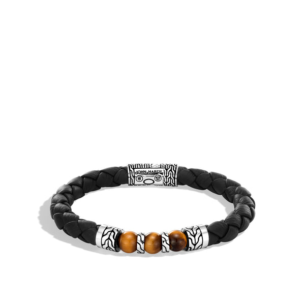 Classic Chain Station Bracelet with Tiger Eye