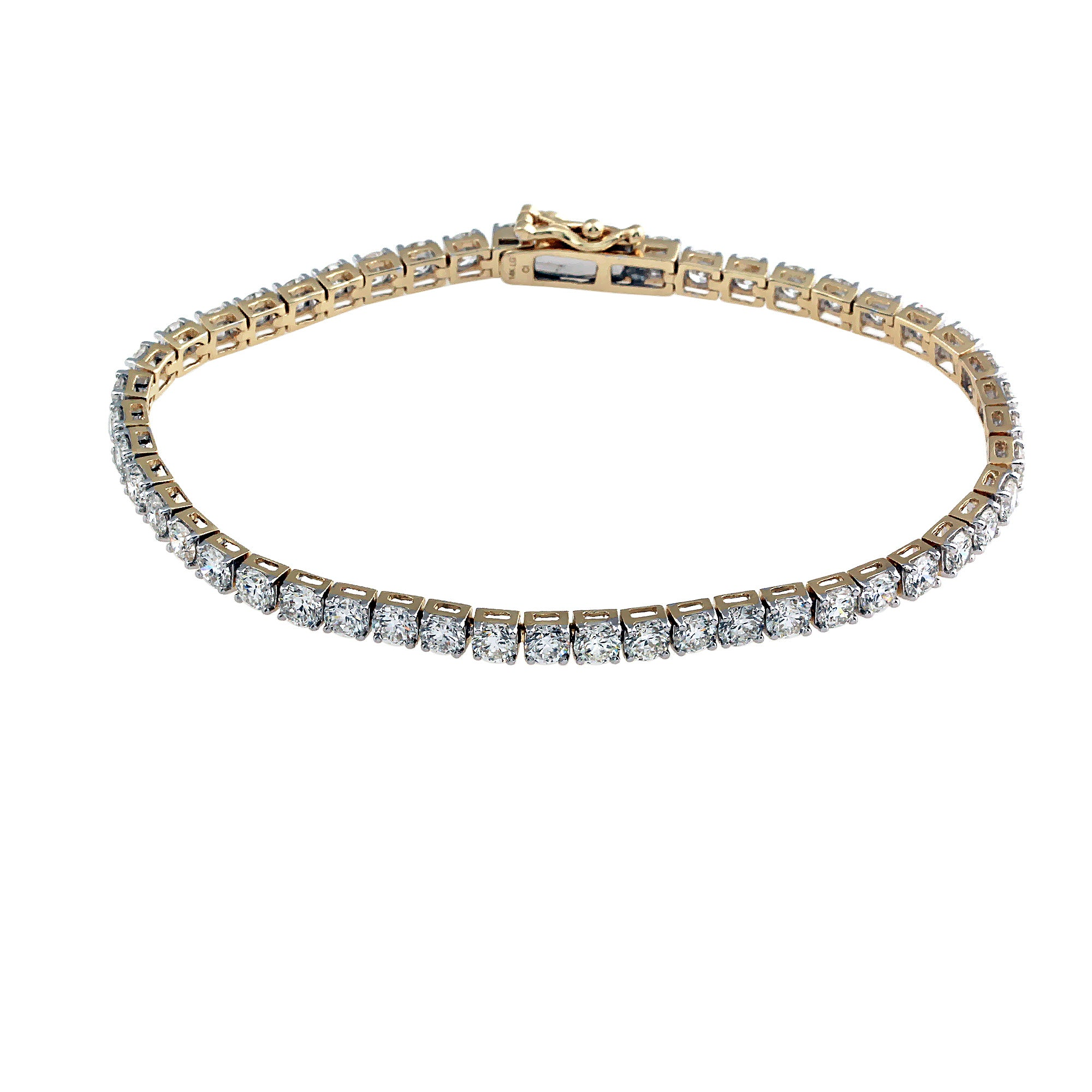 7.00CTW Lab-Grown Diamond Tennis Bracelet in 14K Gold