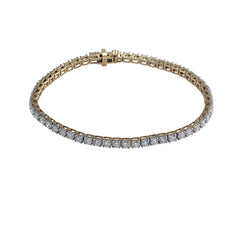 Lab Grown Diamond Tennis Bracelet - Gold