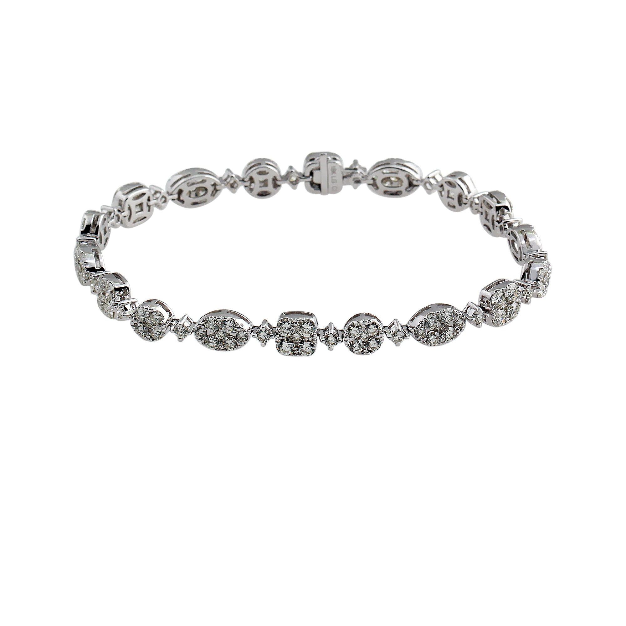 18K White Gold 5.51 CTTW Lab-Grown Diamond Tennis Bracelet