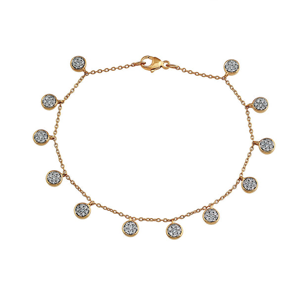 Blaze Lab-Grown Diamond Dangle Bracelet - 14k Gold Over Sterling Silver (.52 ct. tw.)