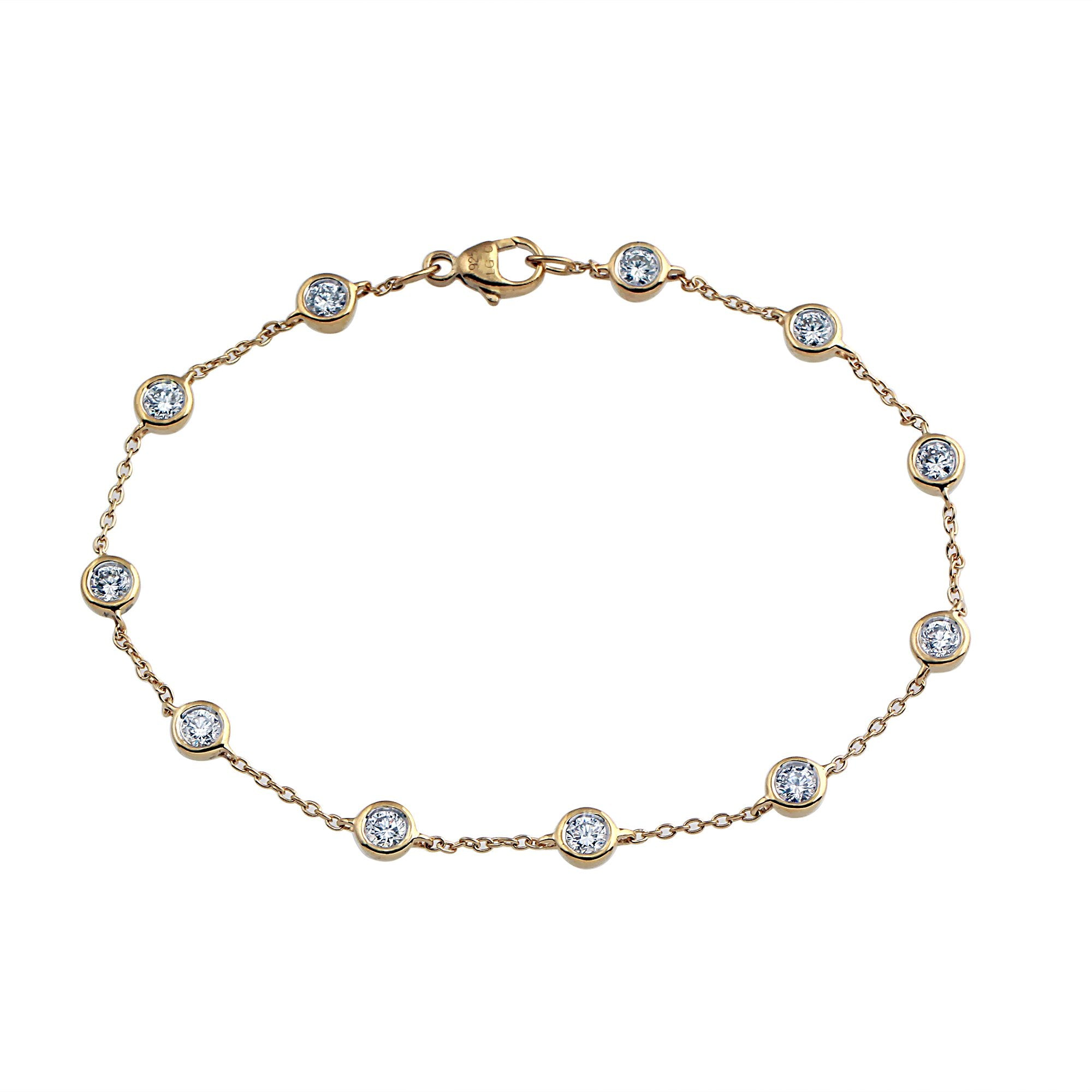 Phoenix Lab-Grown Diamond Station Bracelet - 14k Gold Over Sterling Silver (1.1 ct. tw.)