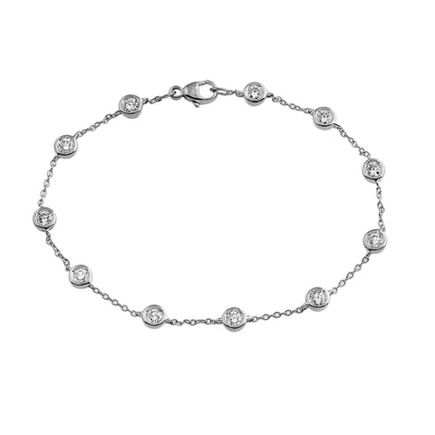 Phoenix Lab-Grown Diamond Station Bracelet - Sterling Silver (1.1 ct. tw.)