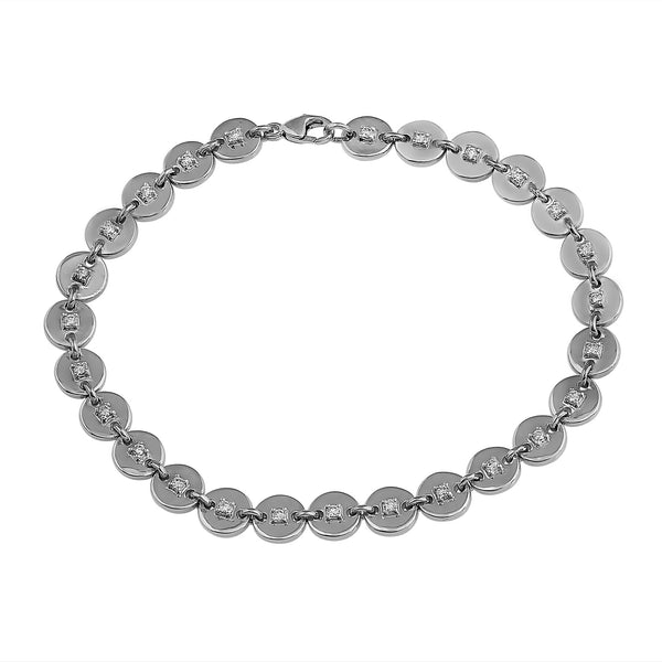 Phoenix Lab-Grown Diamond Disk Bracelet - Sterling Silver (.50 ct. tw.)