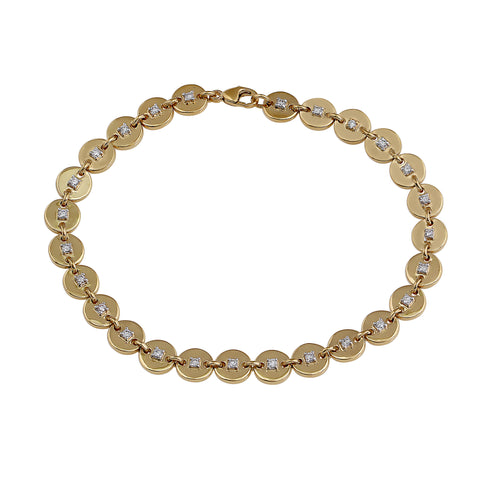 Phoenix Lab-Grown Diamond Disk Bracelet - 14k Gold Over Sterling Silver (.50 ct. tw.)